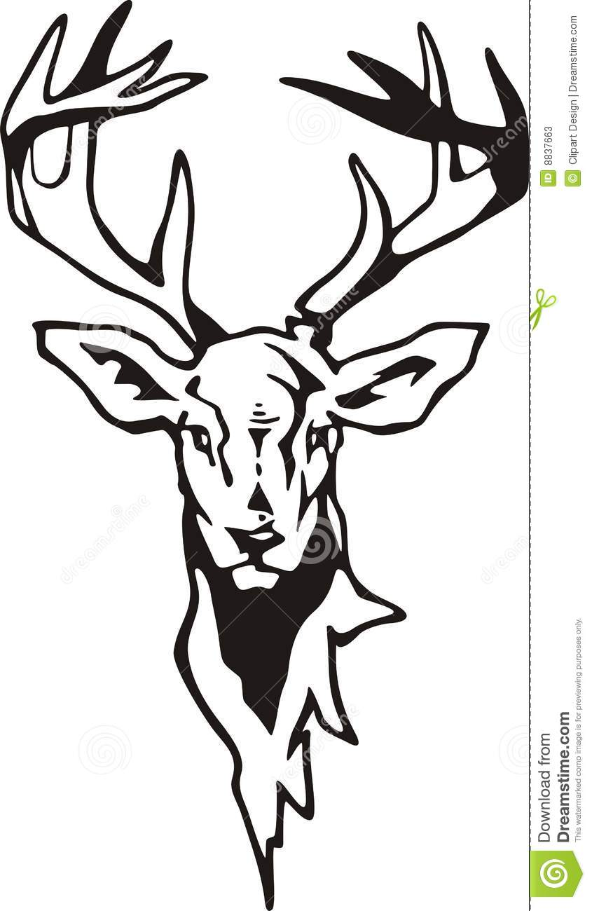 Buck Bass Drawing Challenge A 29956917 besides Head Awn in addition Deer Antlers Drawing together with Tribal Deer Tattoo 359339348 additionally 40 Latest Tribal Tattoo Designs. on antler skull drawings
