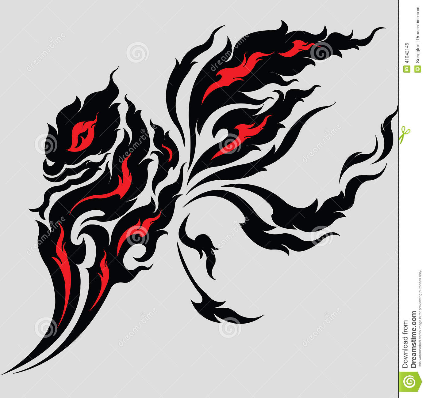 tribal dragon tattoo design stock vector image 41042146. Black Bedroom Furniture Sets. Home Design Ideas