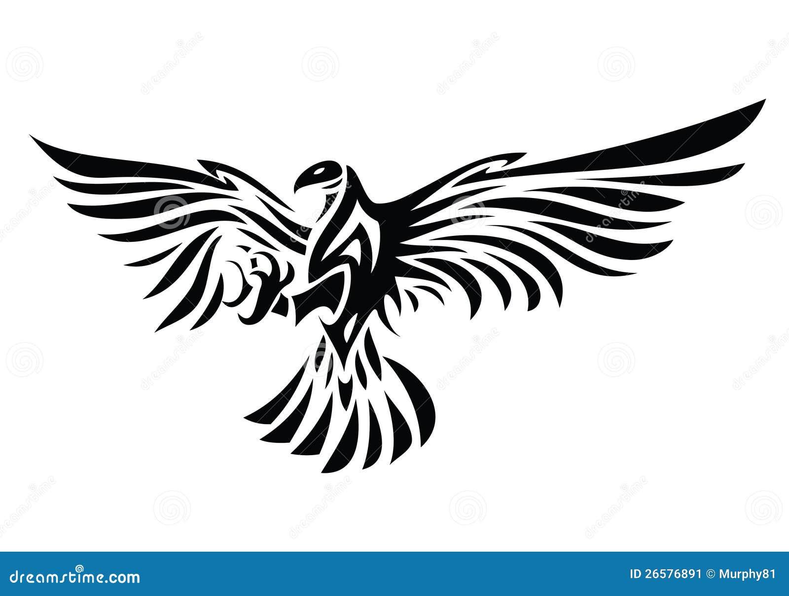 Tribal eagle tattoo stock vector  Illustration of animal