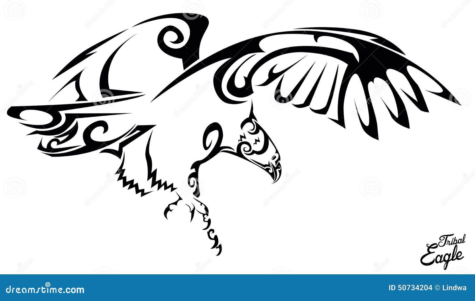 Tribal Eagle Stock Vector Image 50734204