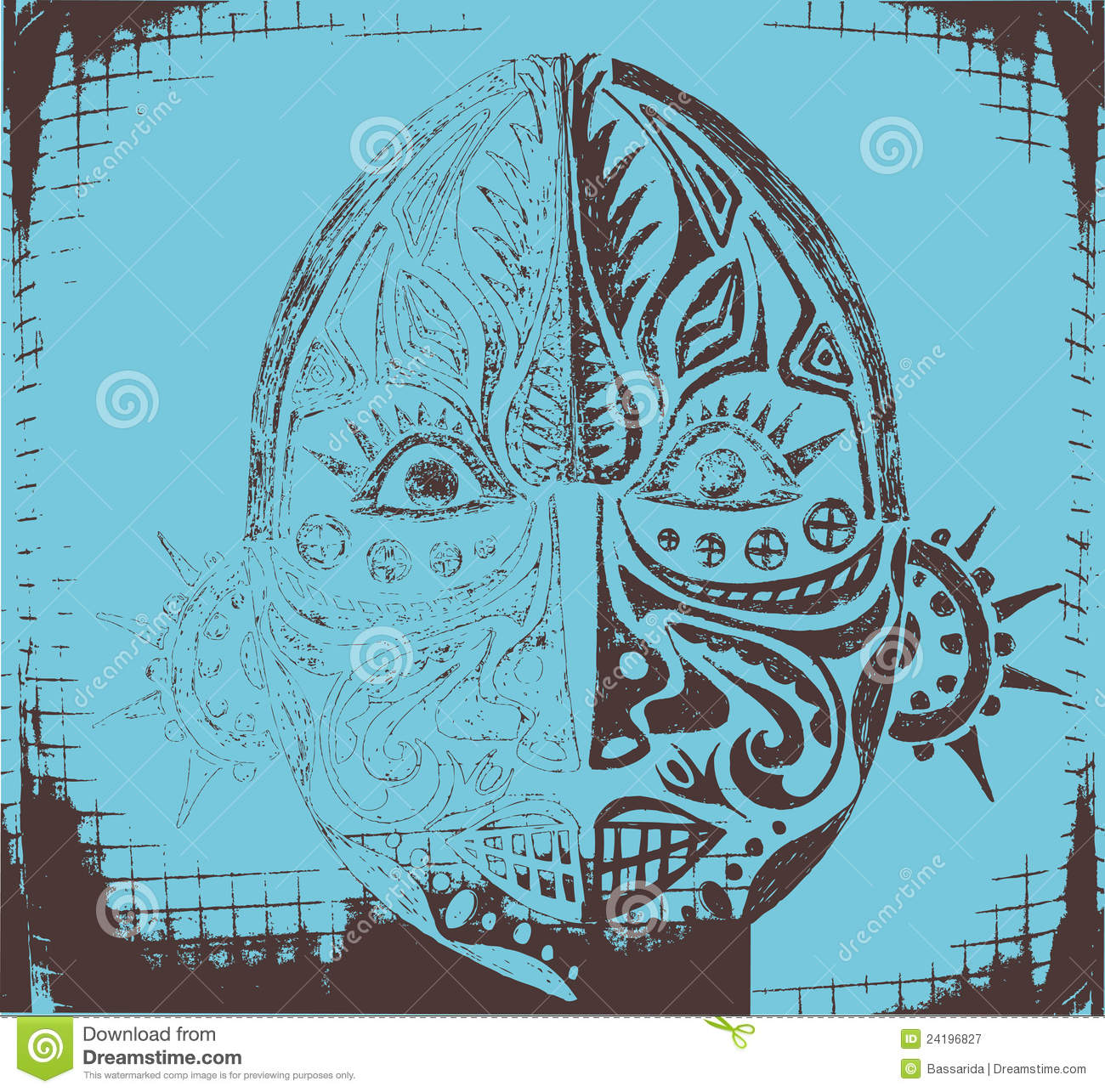 Tribal ethnic religious mask