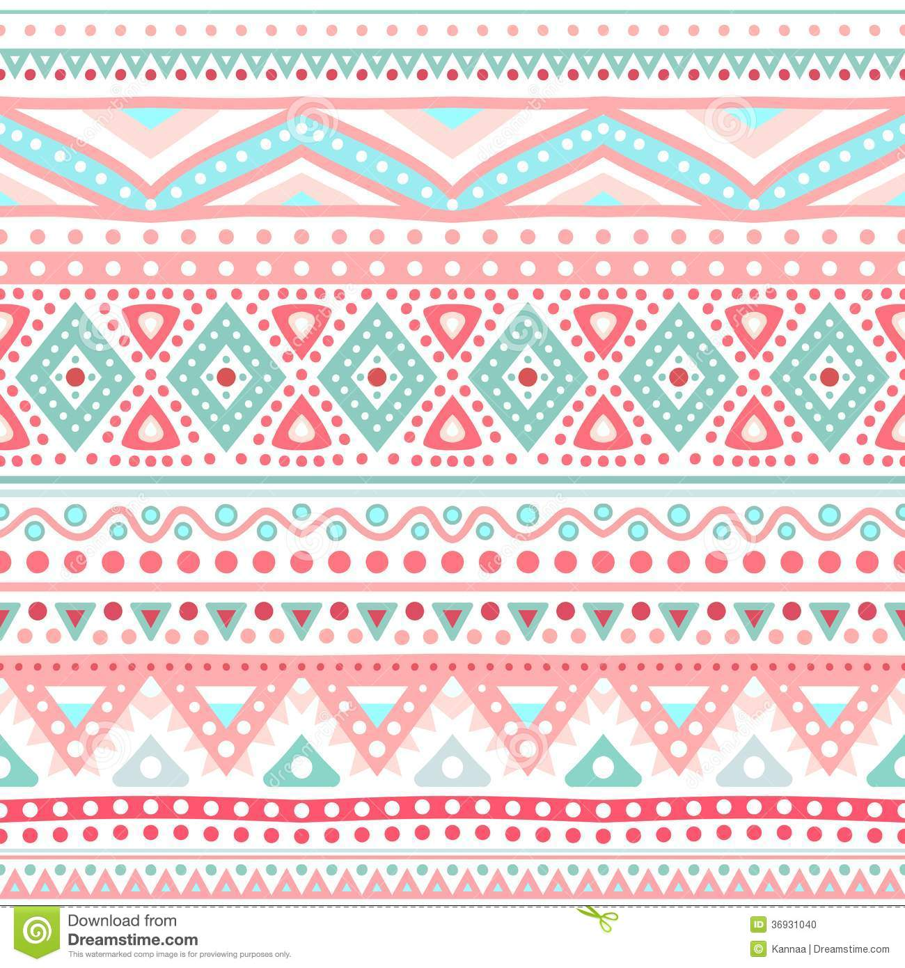 Tribal Ethnic Seamless Stripe Pattern. Vector Stock Photo ...
