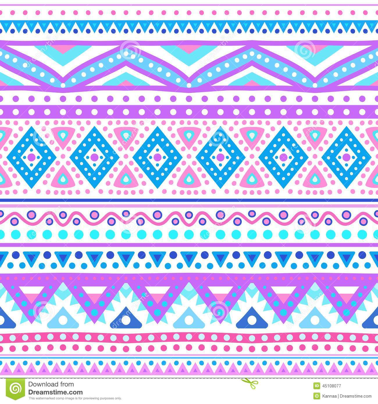 Tribal Ethnic Seamless Stripe Pattern. Vector Stock Vector ...