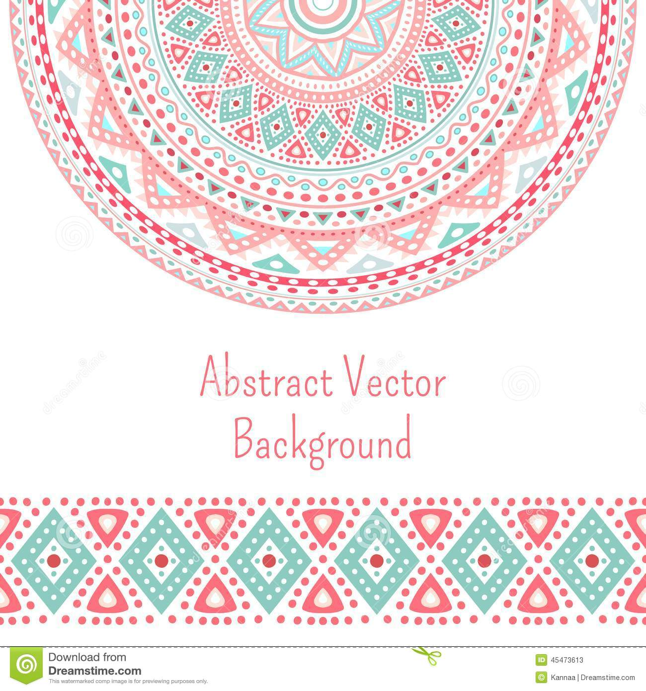 Tribal Ethnic Seamless Stripe And Round Pattern Stock