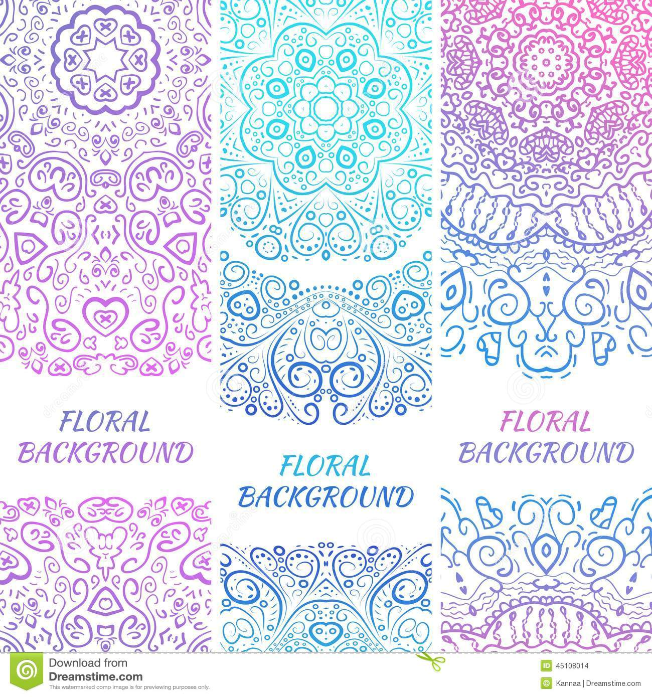 Tribal Ethnic Vintage Banners Illustration For Stock