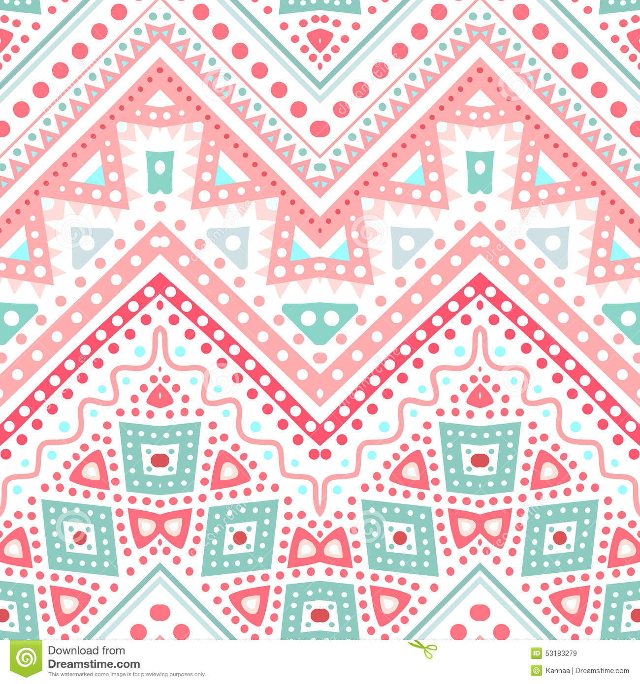 Tribal Ethnic Zig Zag Pattern. Vector Illustration Stock ...