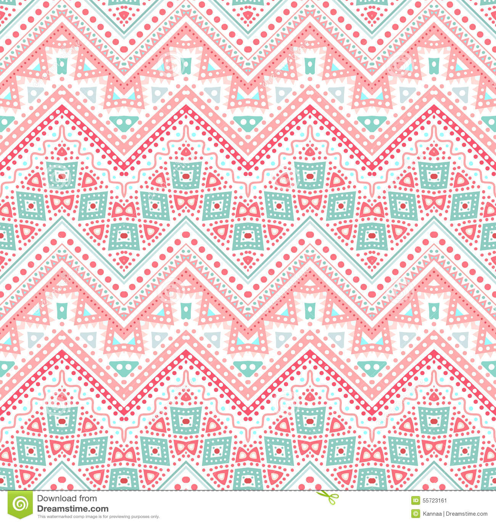 tribal ethnic zig zag pattern vector illustration stock