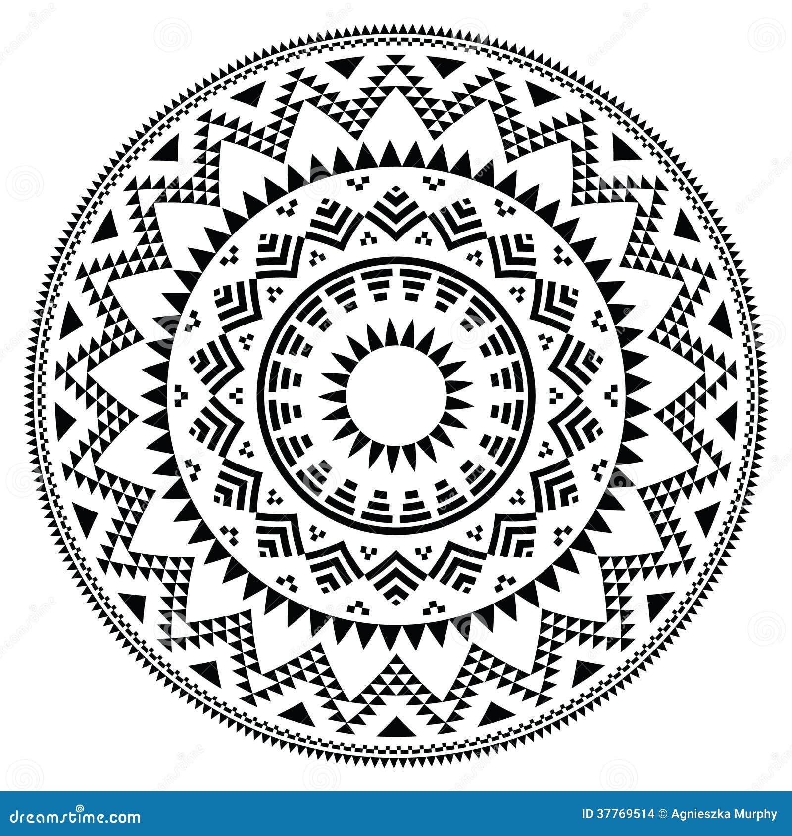 Vector round pattern i...