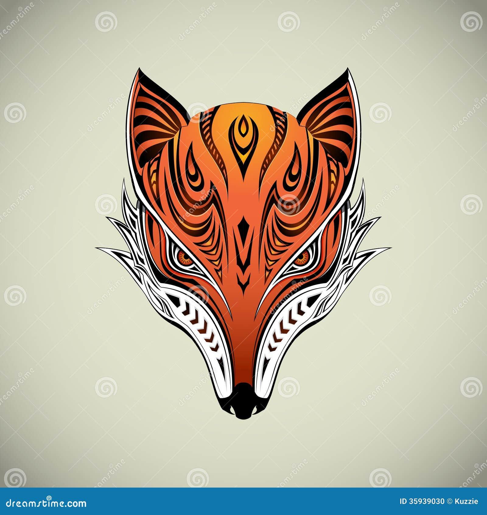 Tribal Fox Stock Photo - Image: 35939030