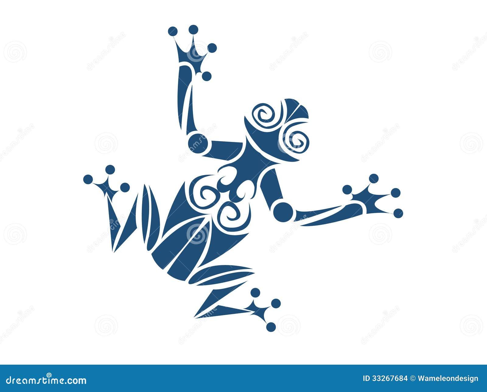 tribal frog stock vector illustration of tattoo little 33267684 rh dreamstime com Tribal Tiger Tribal Tiger