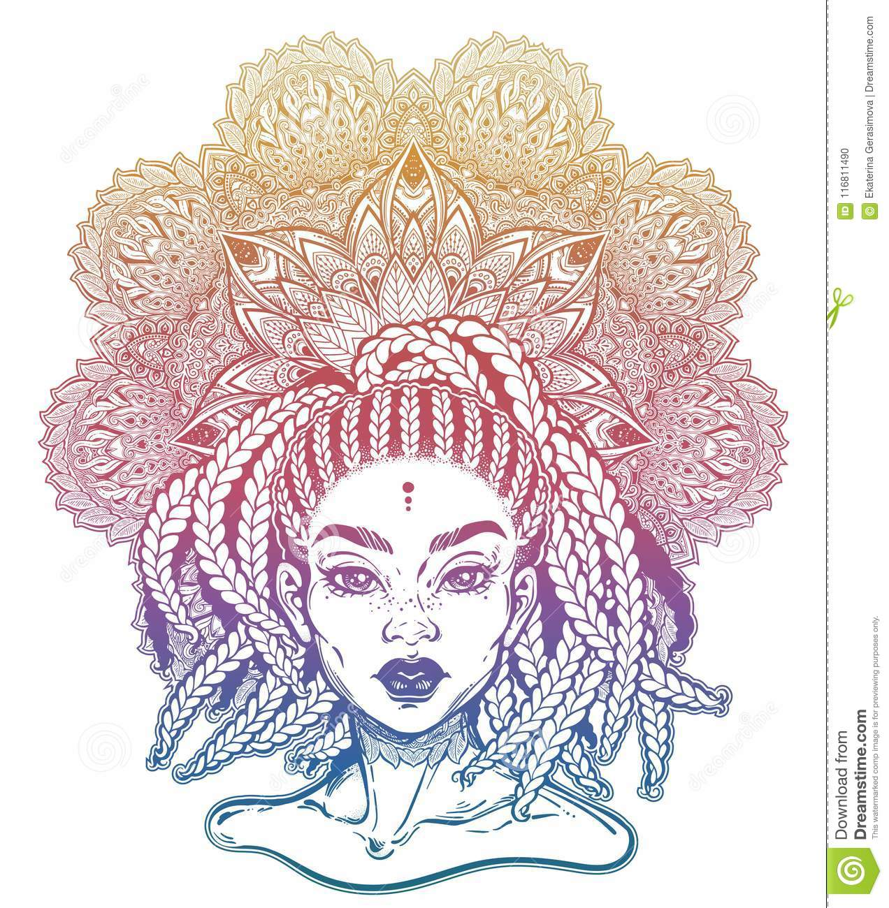 Black egyptian goddess queen. Stock illustration illustration of.