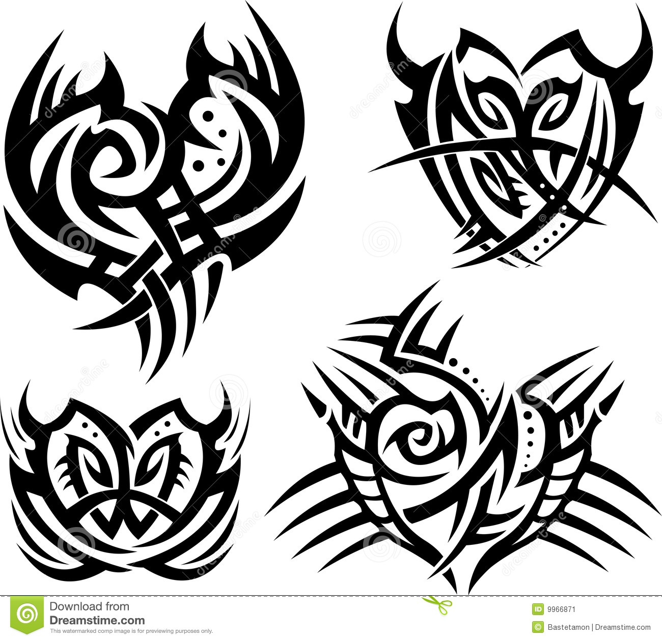 tribal hearts and shields stock image image 9966871. Black Bedroom Furniture Sets. Home Design Ideas