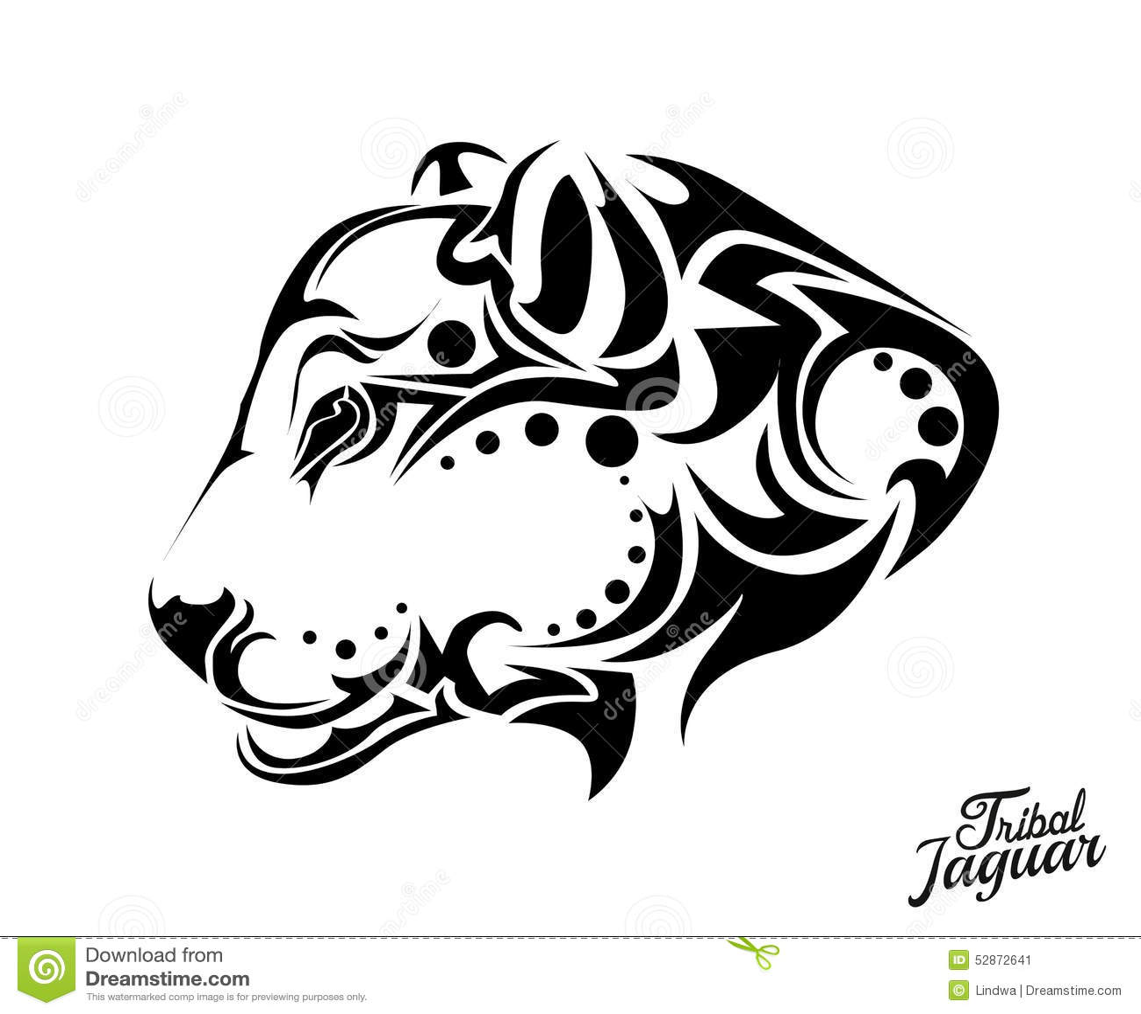 tribal jaguar tattoo stock vector  illustration of tattoo