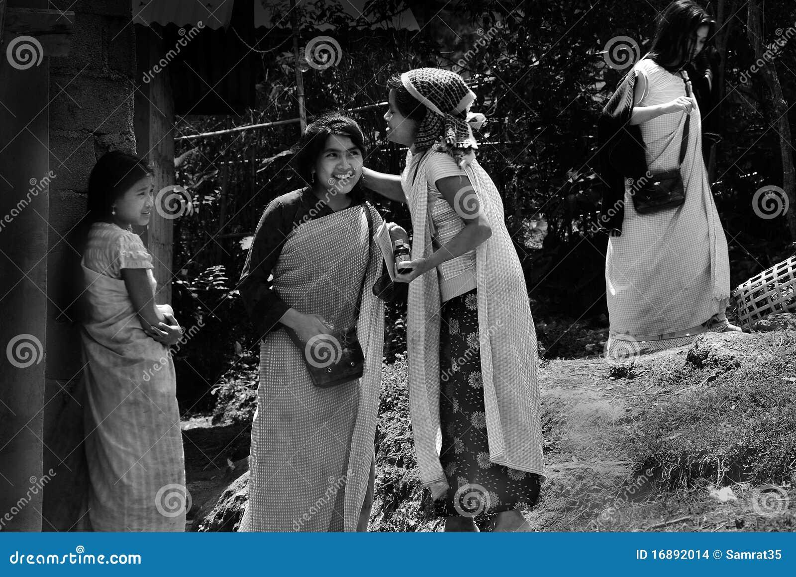 Tribal Khasi Women At Northeast India Editorial Stock Image - Image