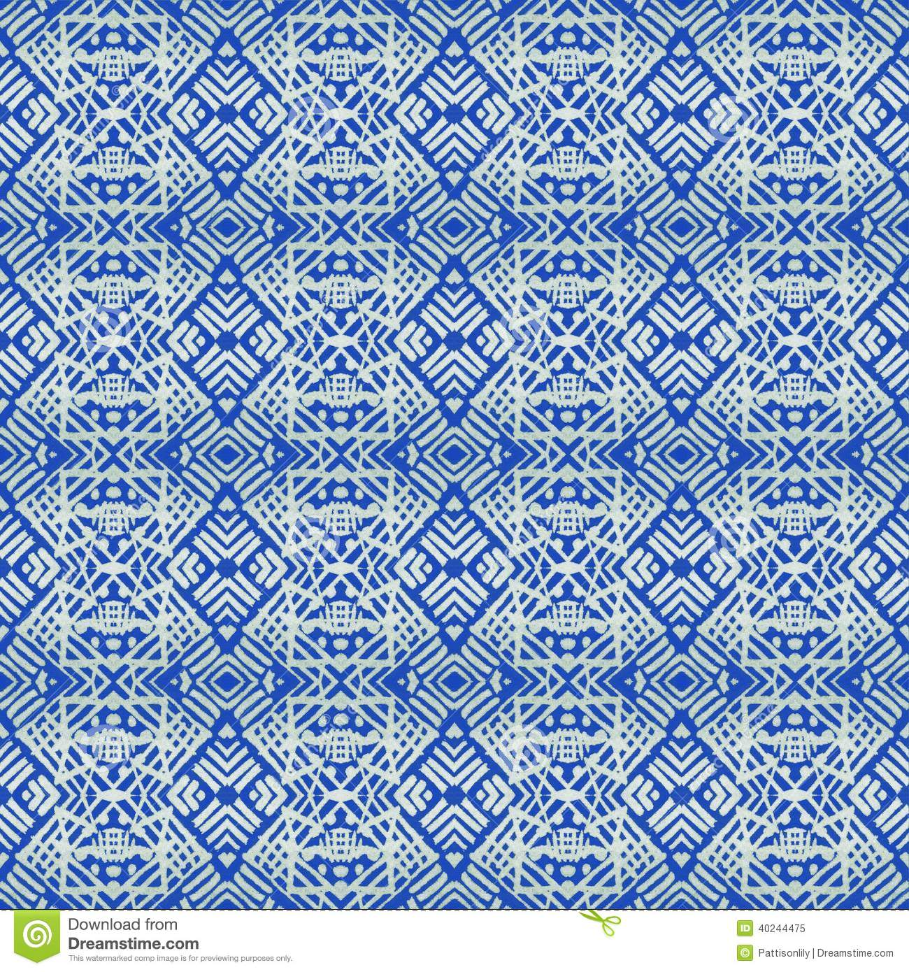 ... tribal pattern inspired by African, tribal and indigo batik textiles