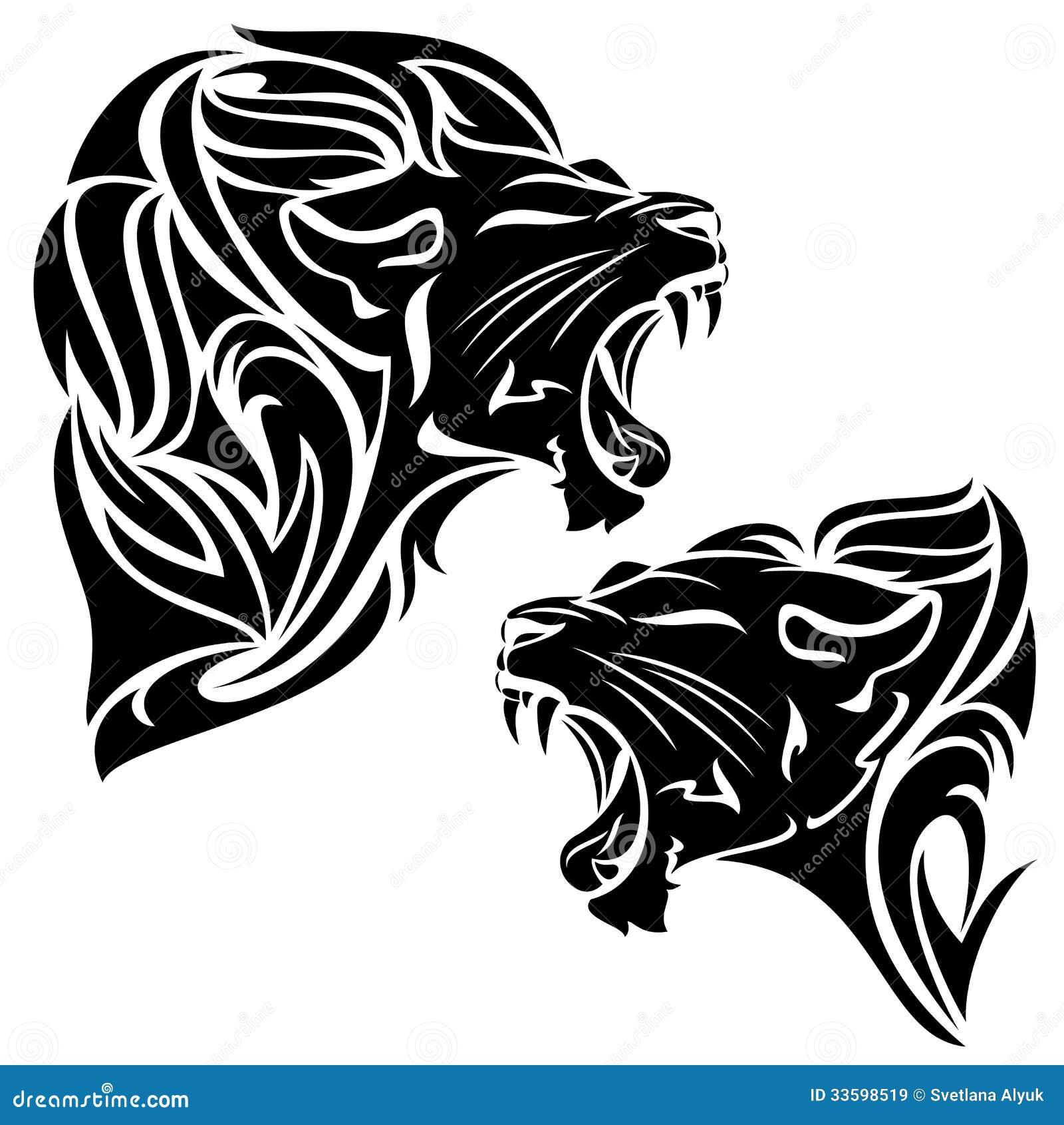 Tribal Lion Stock Vector Image Of Feline Fang Art