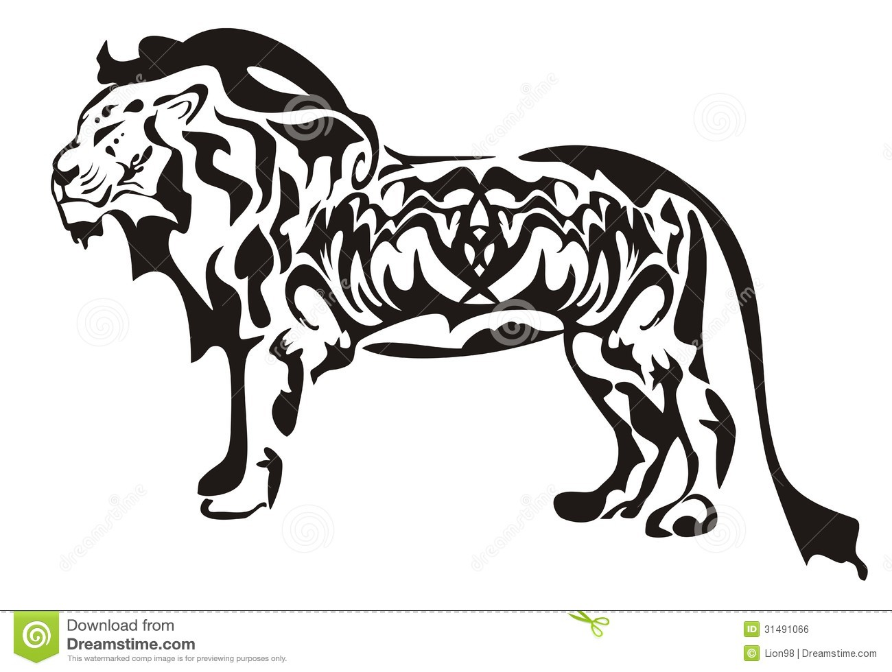 Tribal lion symbol ready for labels, stickers and T-shirt designs ...