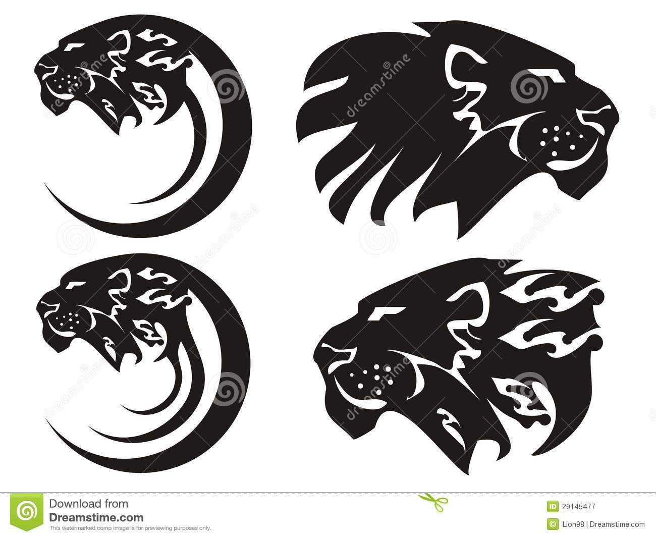 Lion king vector lion symbols stock photo image of mammal tribal lion symbols vector royalty free stock photography biocorpaavc Gallery