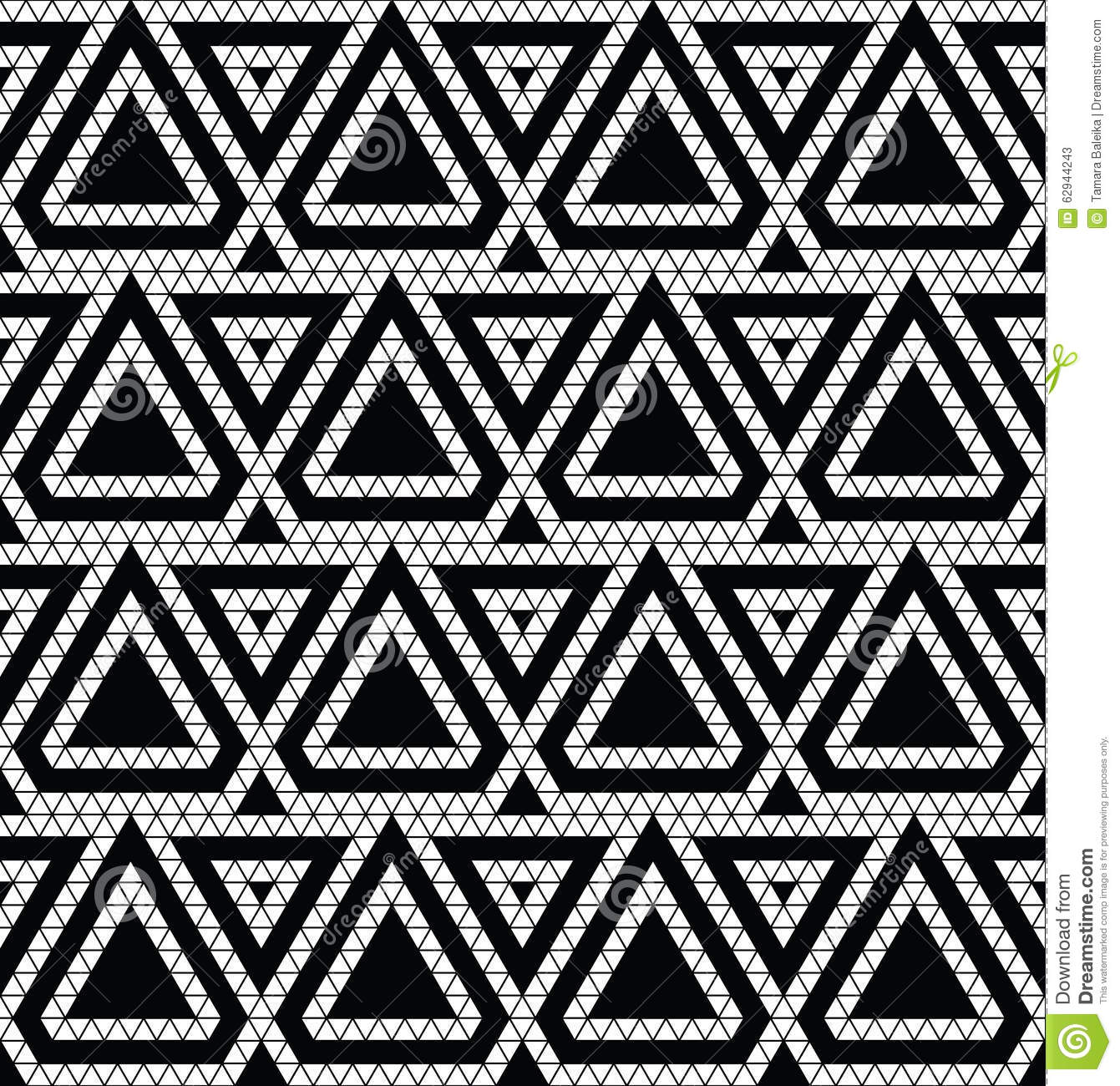 Tribal Monochrome Lace Stock Illustration Image 62944243