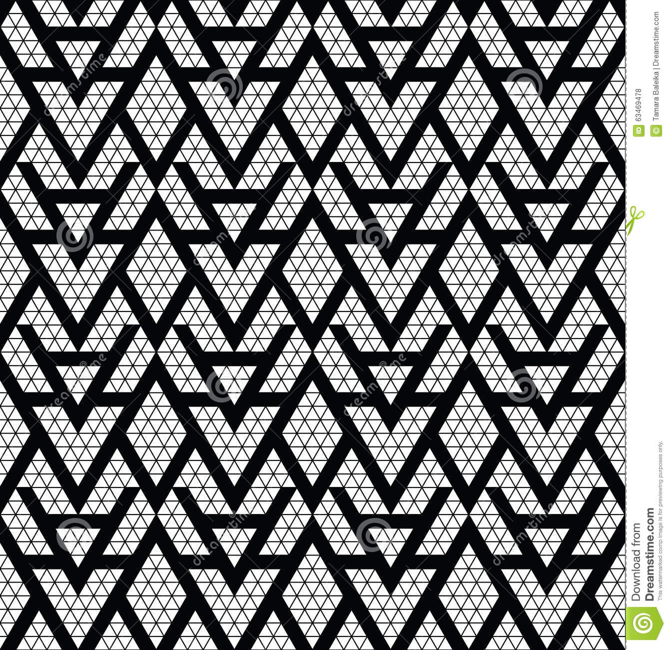 Tribal Monochrome Lace Stock Vector Image 63469478