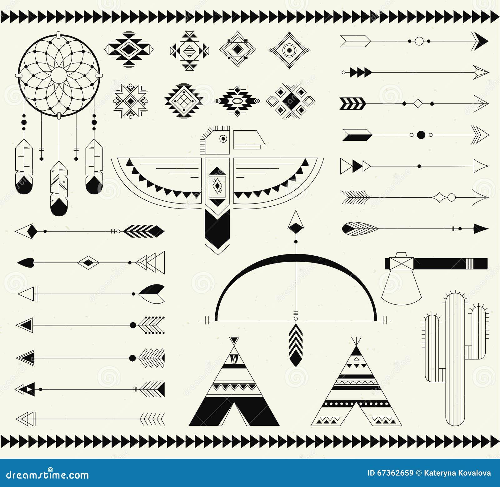 Thunderbird native american symbol stock illustrations 16 tribal native american indian element navajo american elements vector collection tribal print elements biocorpaavc Gallery