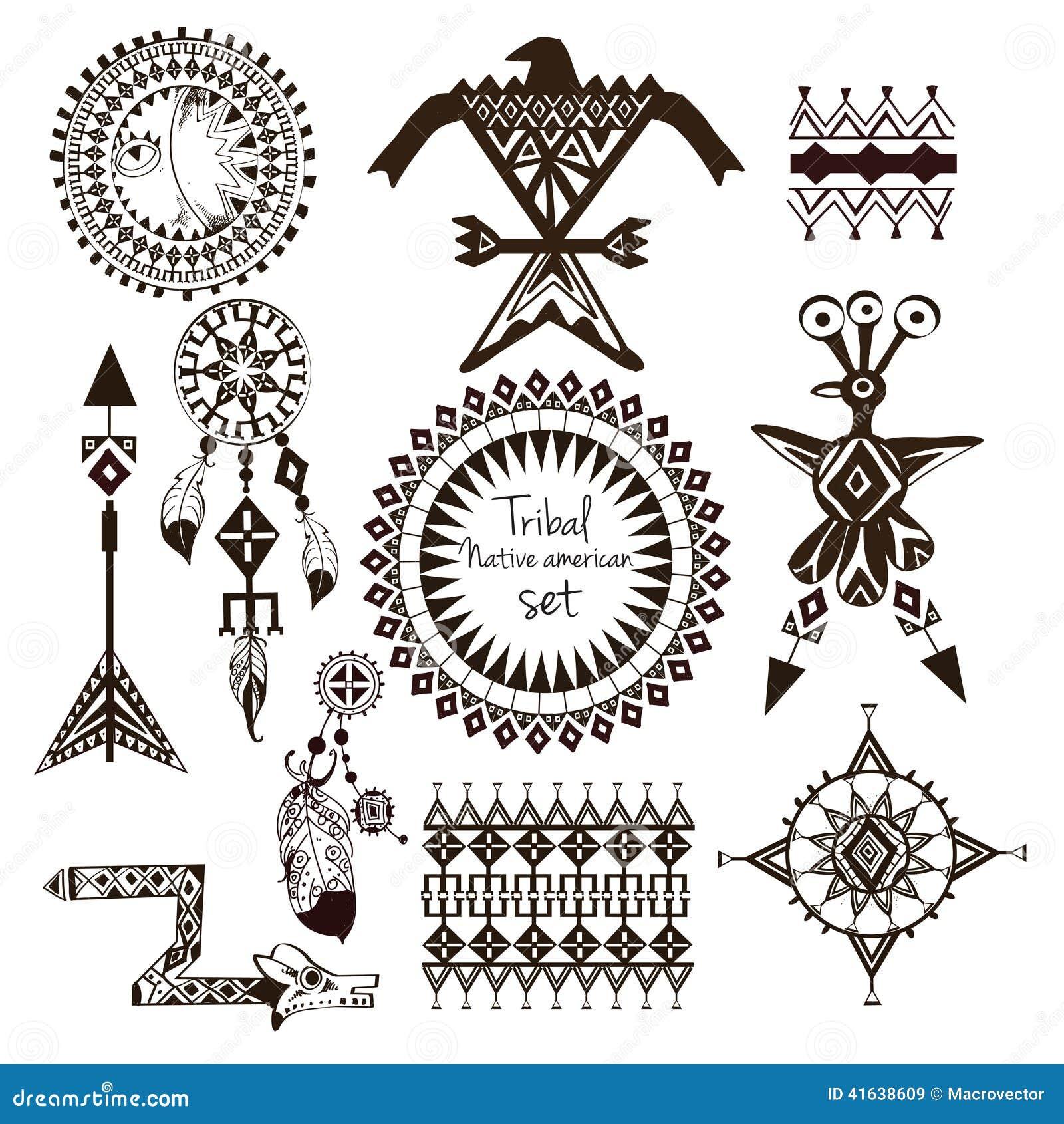 Tribal Native American Set Stock Vector - Image: 41638609