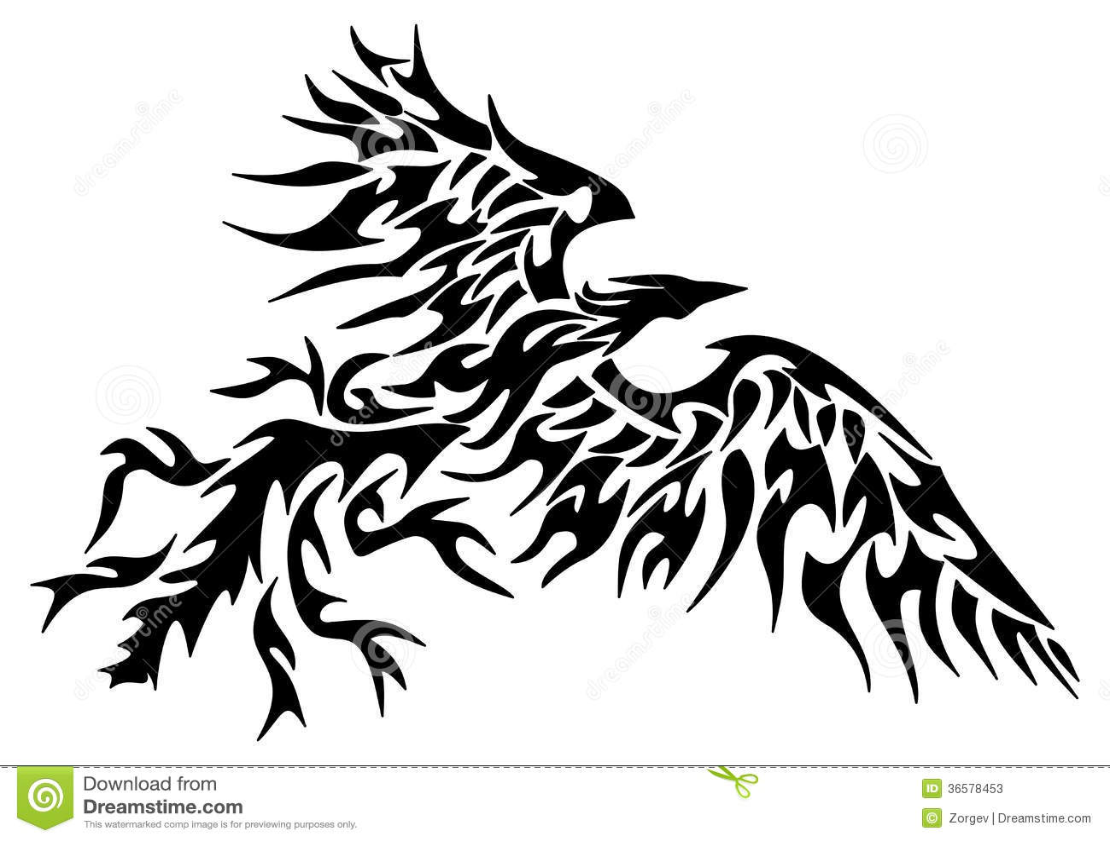 tribal phoenix de tatouage photos stock image 36578453. Black Bedroom Furniture Sets. Home Design Ideas
