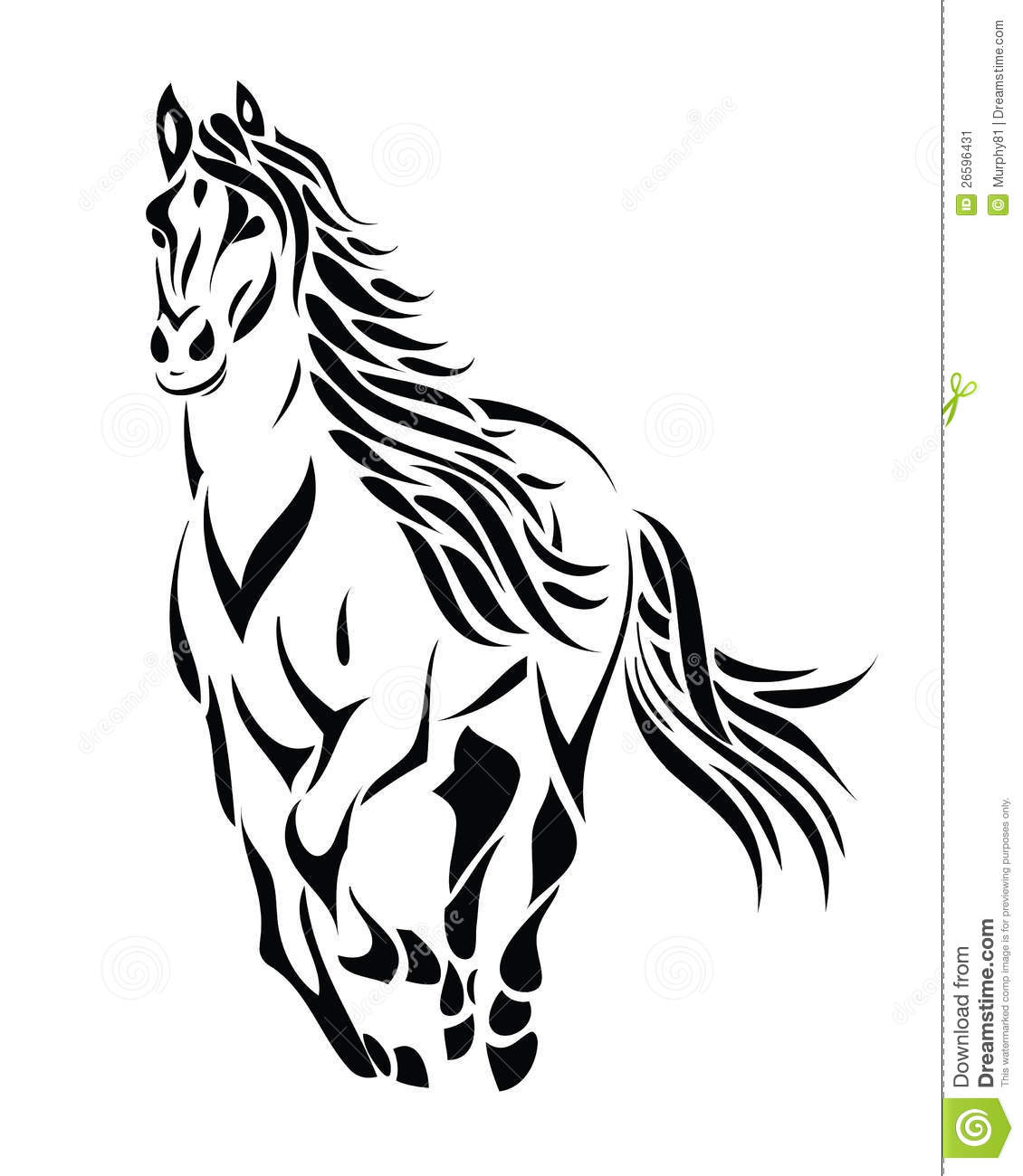 It's just a picture of Wild Tribal Horse Drawing
