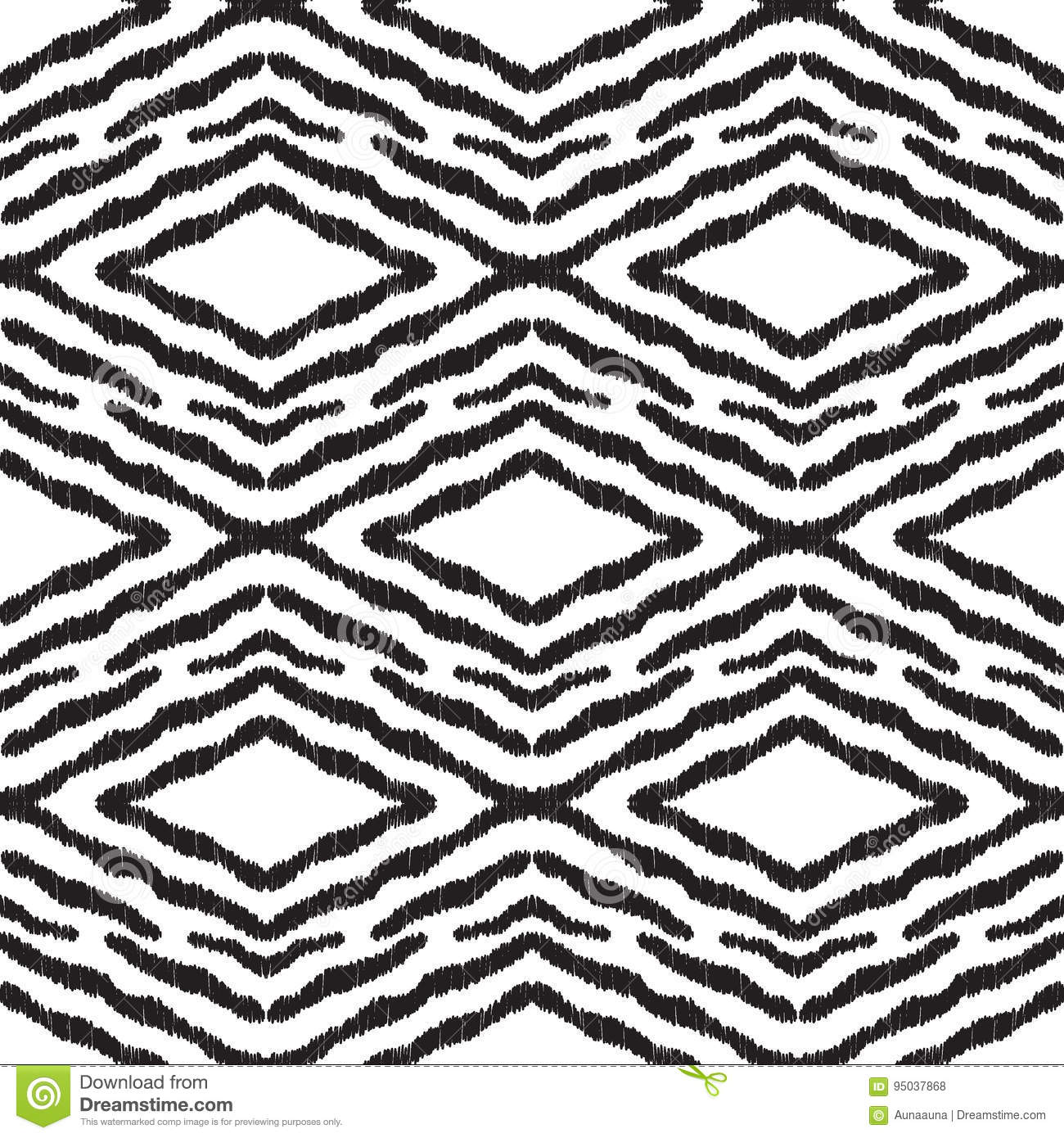 Seamless Pattern In Aztec Style Black And White Print For Textile Wallpaper Card Or Wrapping Paper