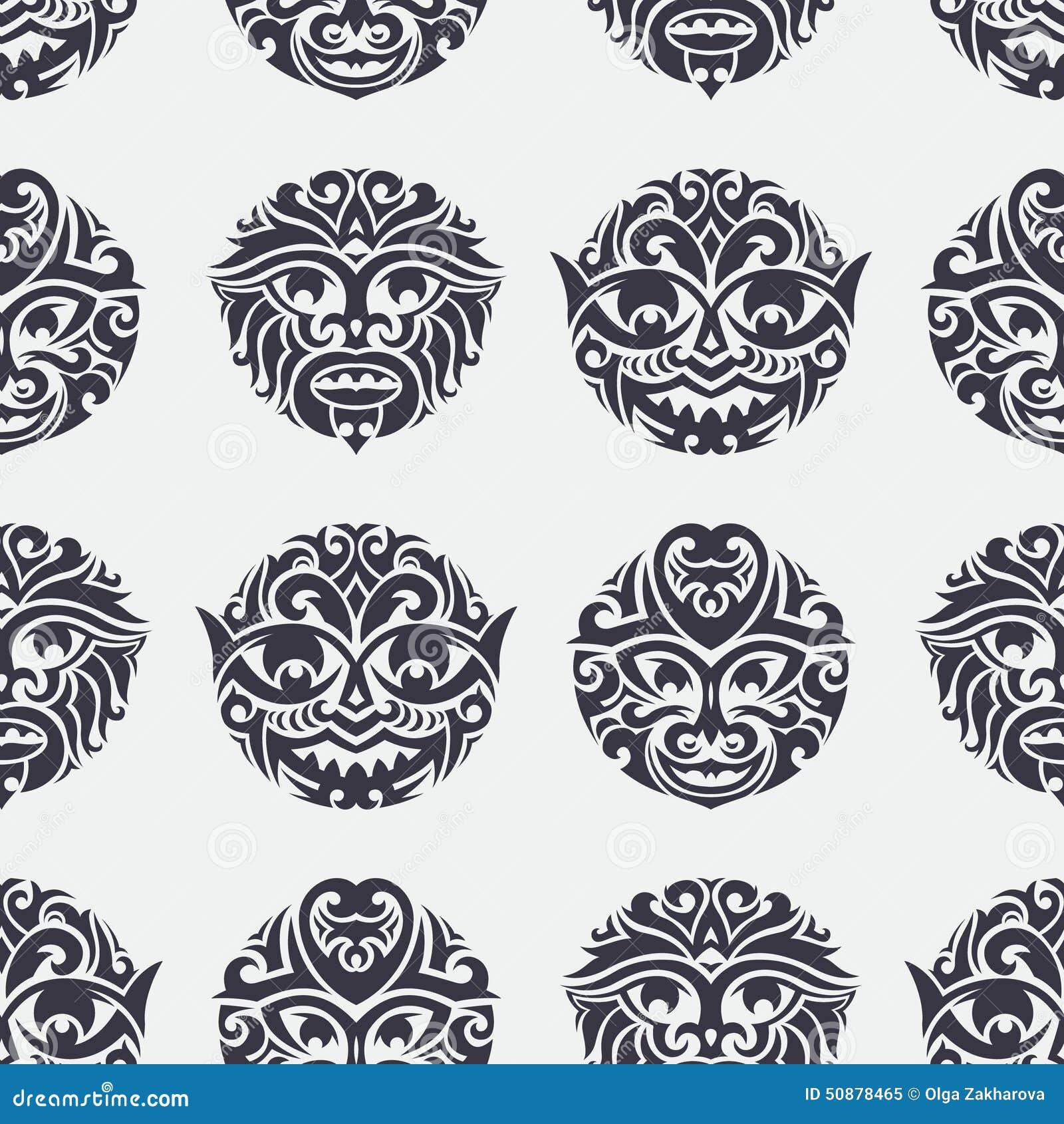 tribal seamless pattern stock vector image 50878465. Black Bedroom Furniture Sets. Home Design Ideas