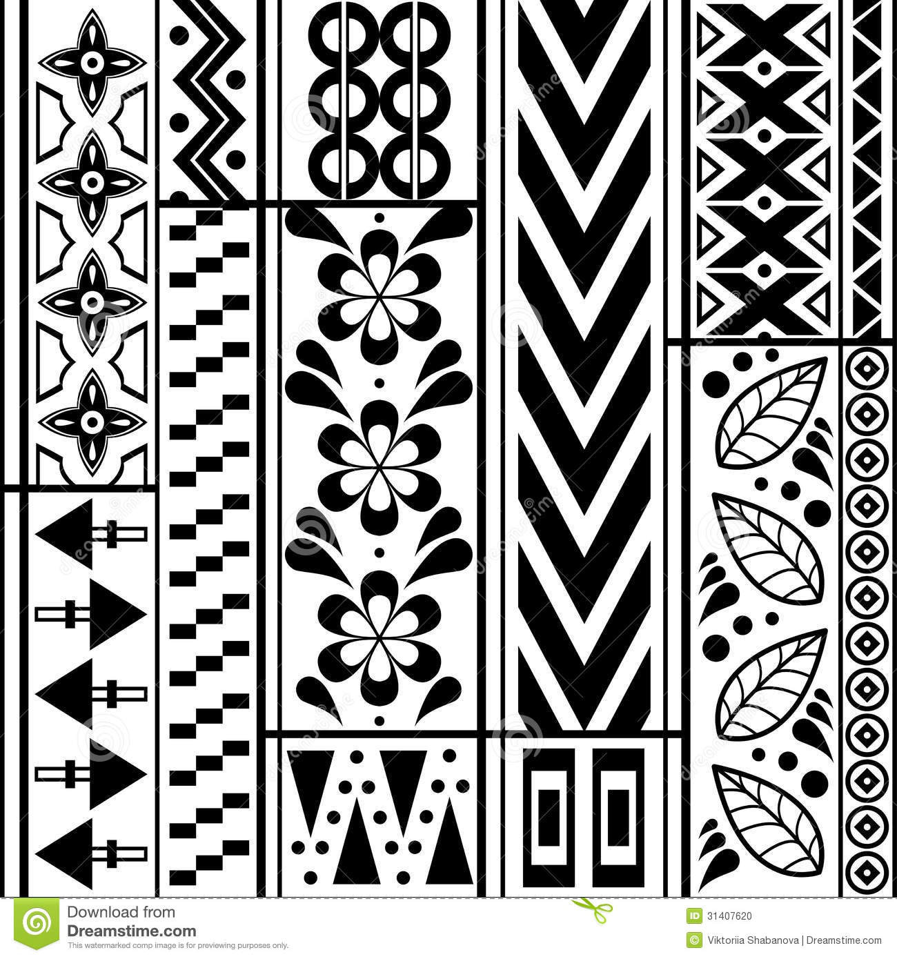 simple geometric black and white pattern stock image - image of