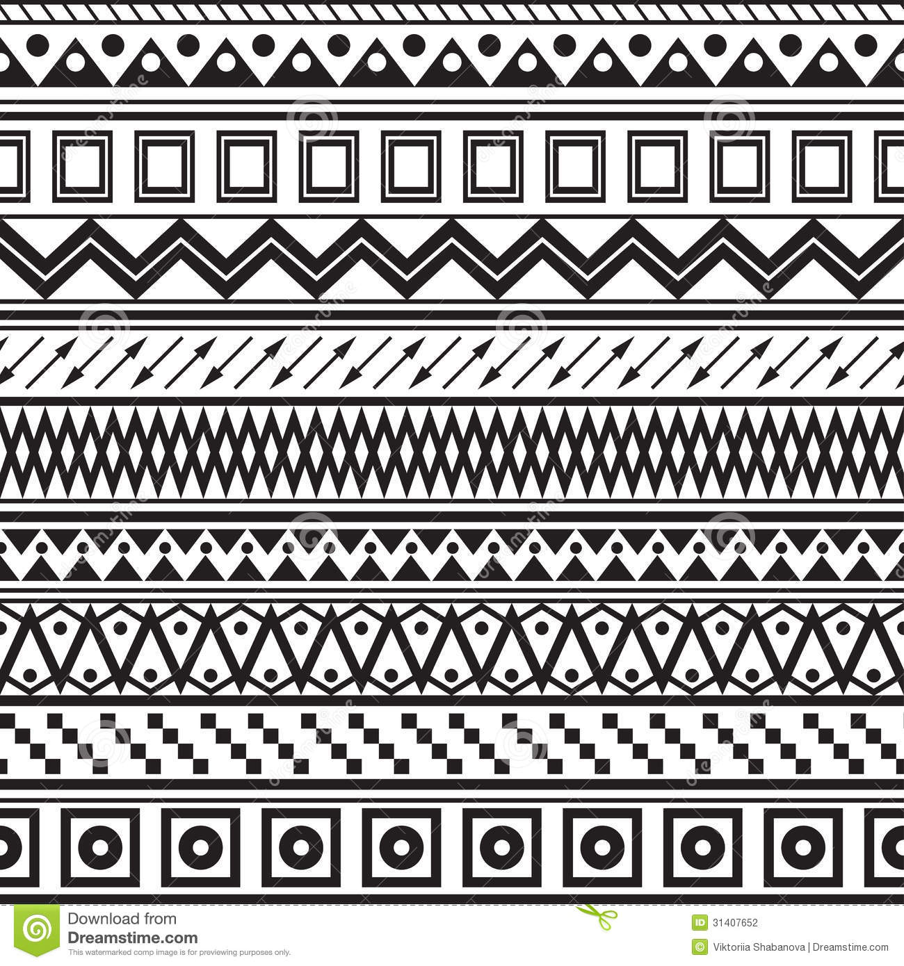 Tribal Striped Seamless Pattern Stock Photography Image 31407652