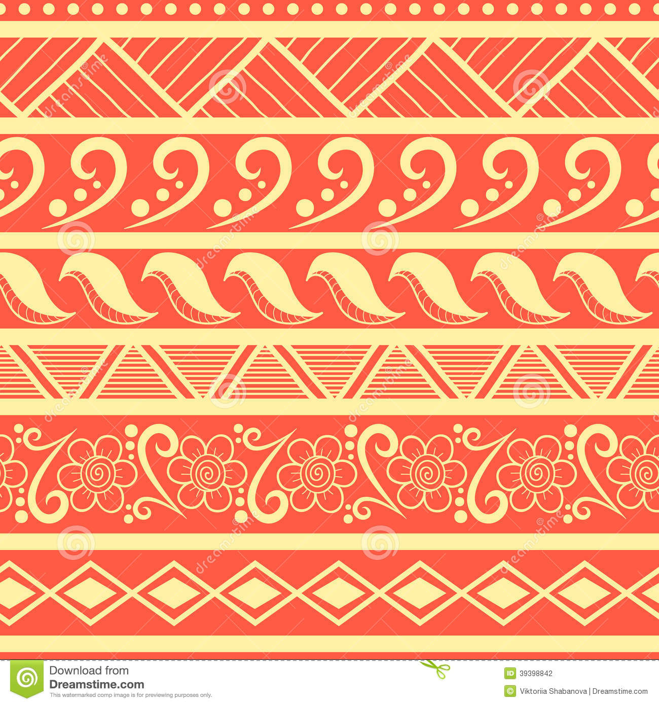 Tribal Striped Seamless Pattern. Stock Vector - Image ...