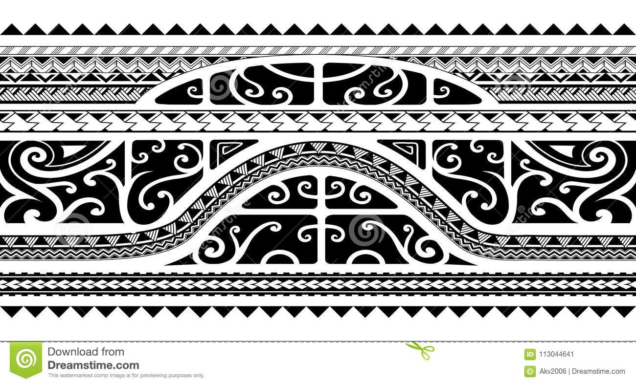 dcb44a81f084c Tribal Style Arm Band Tattoo, Seamless Stock Vector - Illustration ...