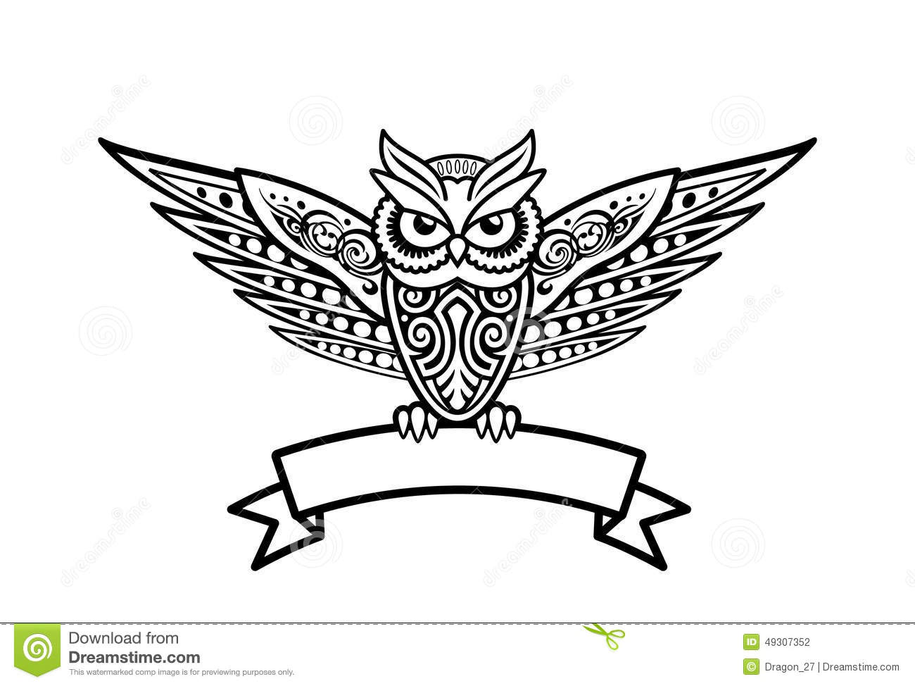 Tribal Style Owl Vector Illustration Stock Vector