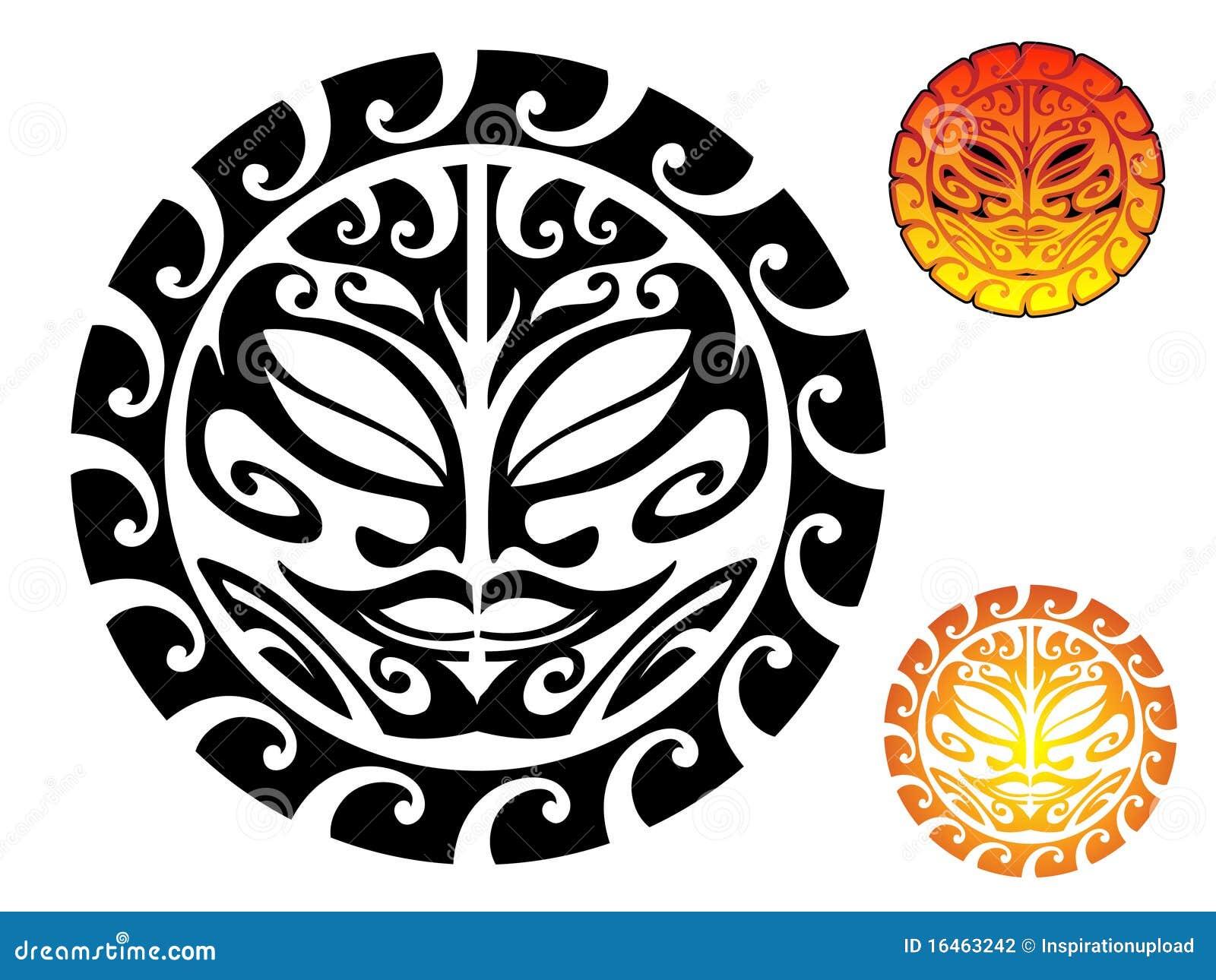 Sunrise tribal tattoo designs tribal sun - Tribal Sun Stock Photography