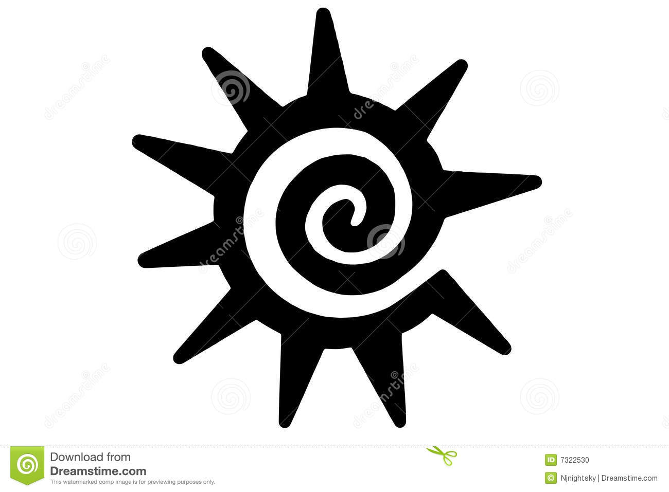 Tribal Sun Tattoo Stock Photo - Image: 7322530