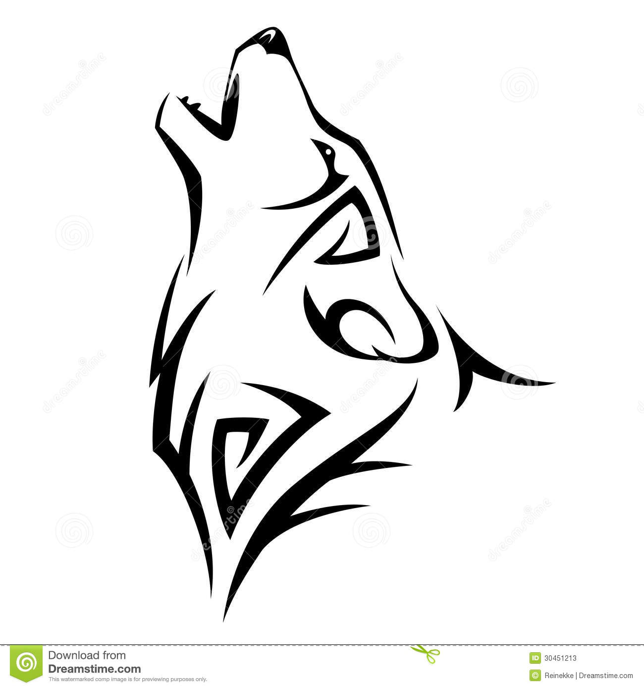 tribal tattoo prices Tribal tattoo wolf Howl illustration. Design