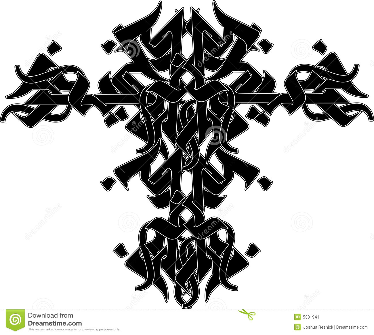 tribal tattoo design stock vector image of power isolated 5381941. Black Bedroom Furniture Sets. Home Design Ideas