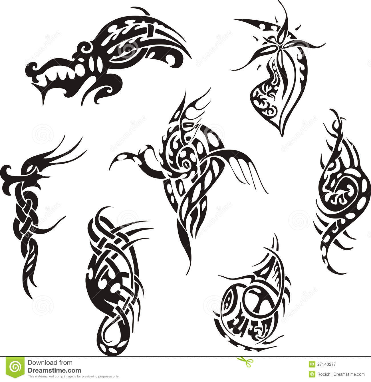 tribal tattoo designs stock vector illustration of lines 27143277. Black Bedroom Furniture Sets. Home Design Ideas