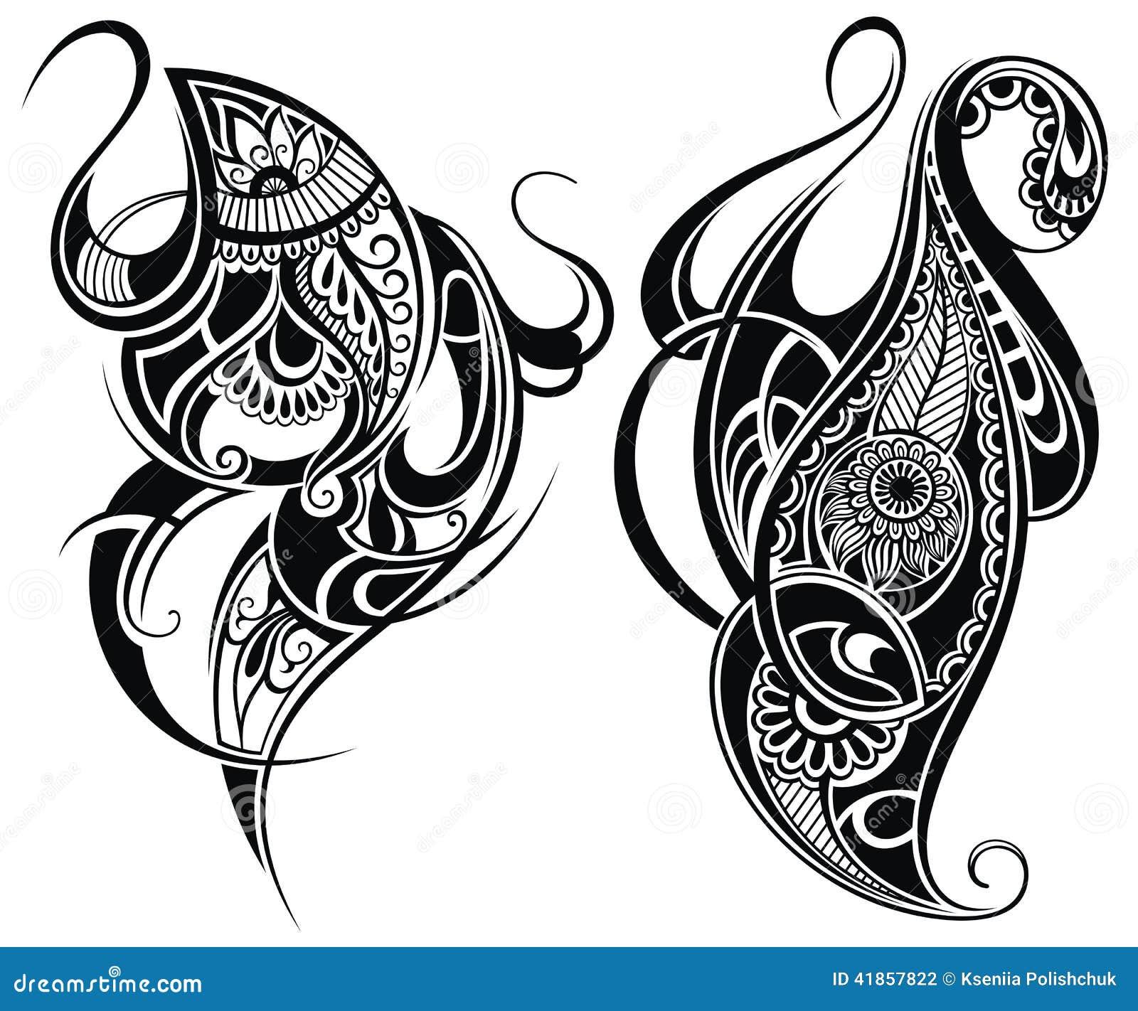 tribal tattoo elements stock vector image 41857822. Black Bedroom Furniture Sets. Home Design Ideas