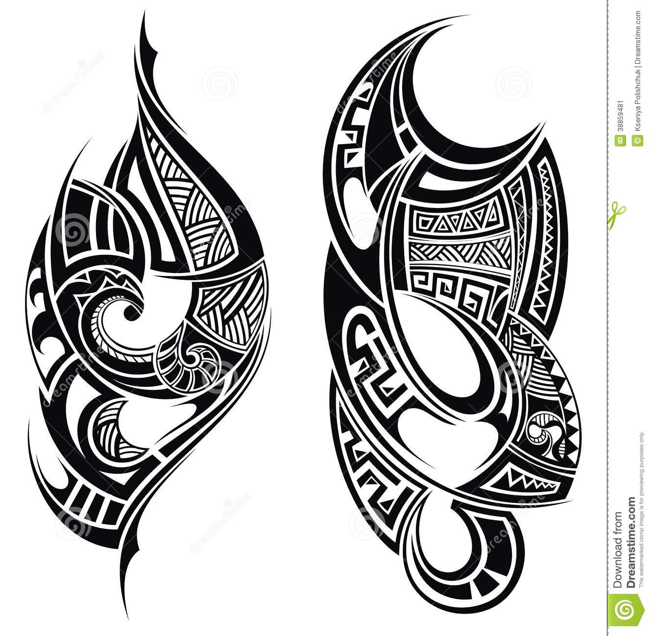 Tribal Tattoo Elements Stock Vector. Illustration Of