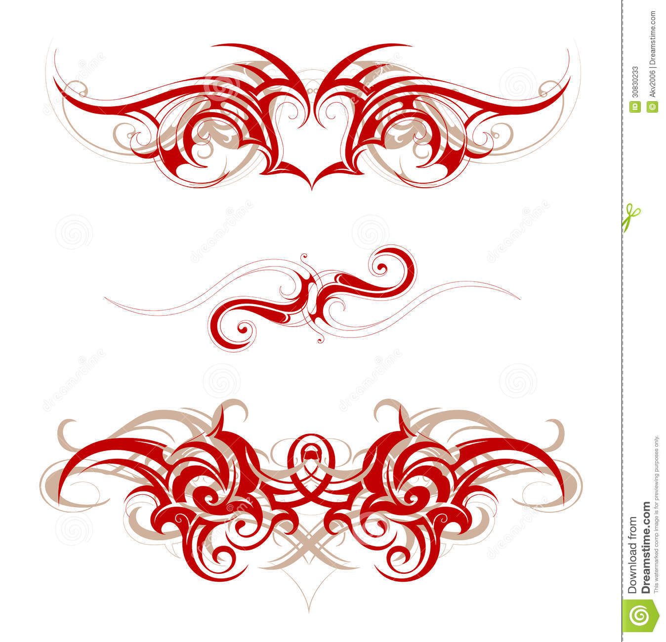 tribal tattoo stock vector image of swirls scroll wave 30830233. Black Bedroom Furniture Sets. Home Design Ideas
