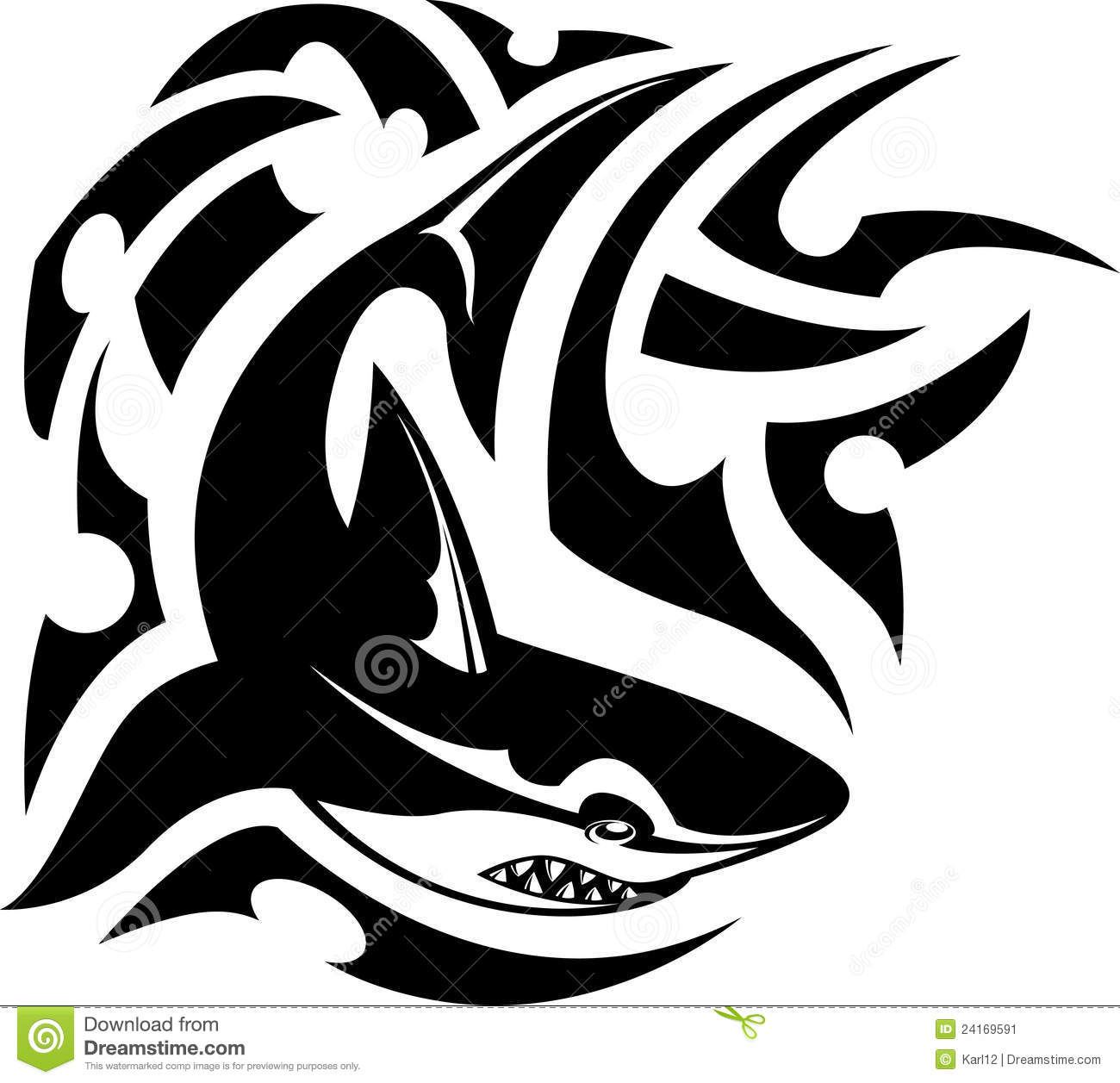 Tribal-Tattoos tribal-tattoo-shark-24169591