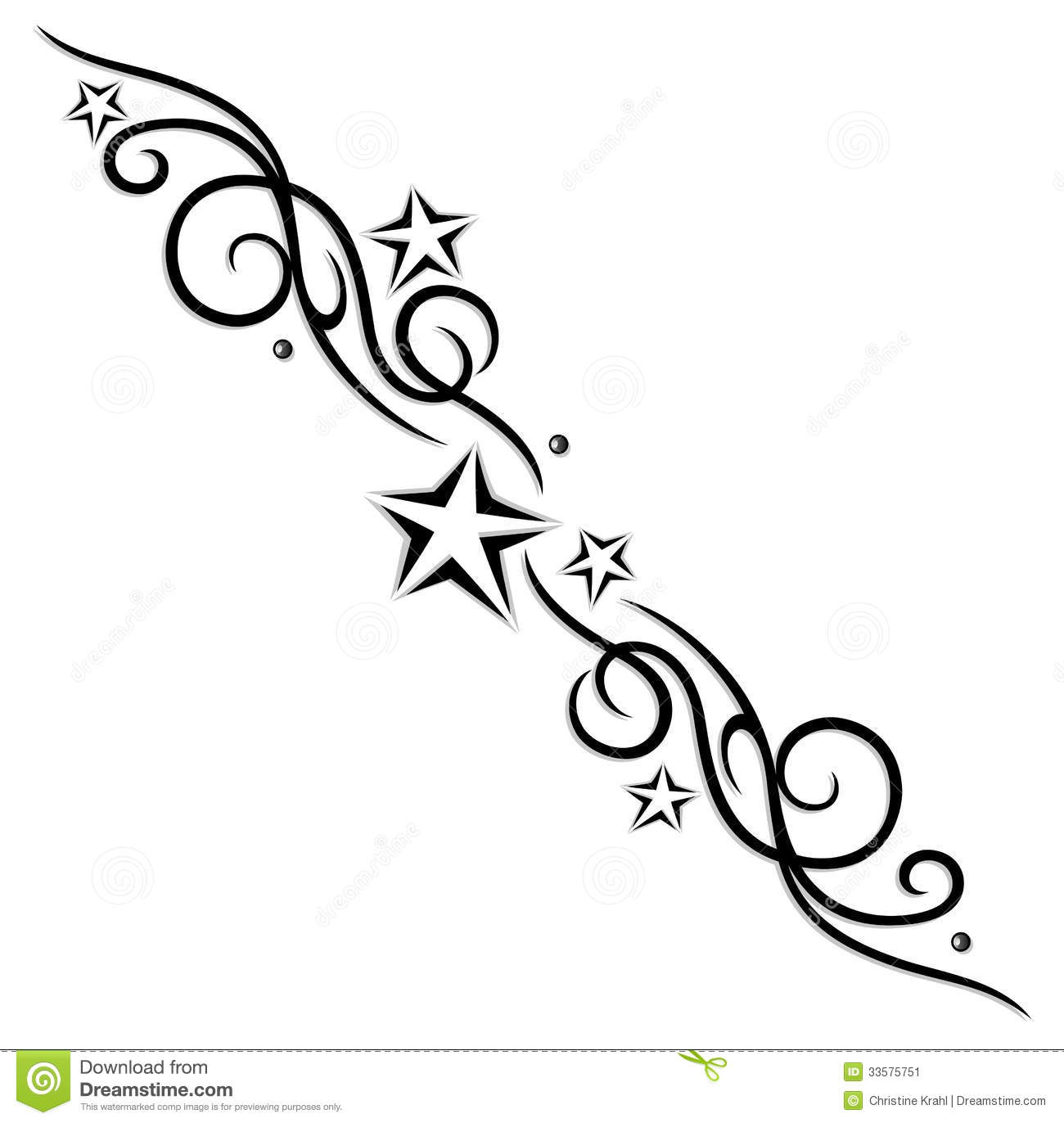 Tribal Tattoo Stars Stock Vector Illustration Of