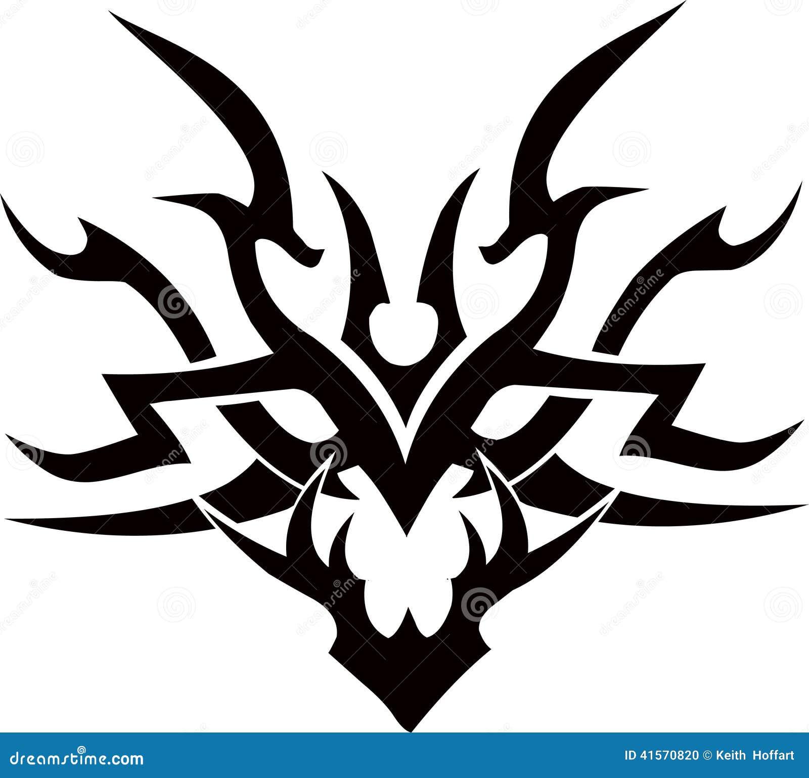 Tribal Tattoo Vector Design Illustration Face Stock Vector