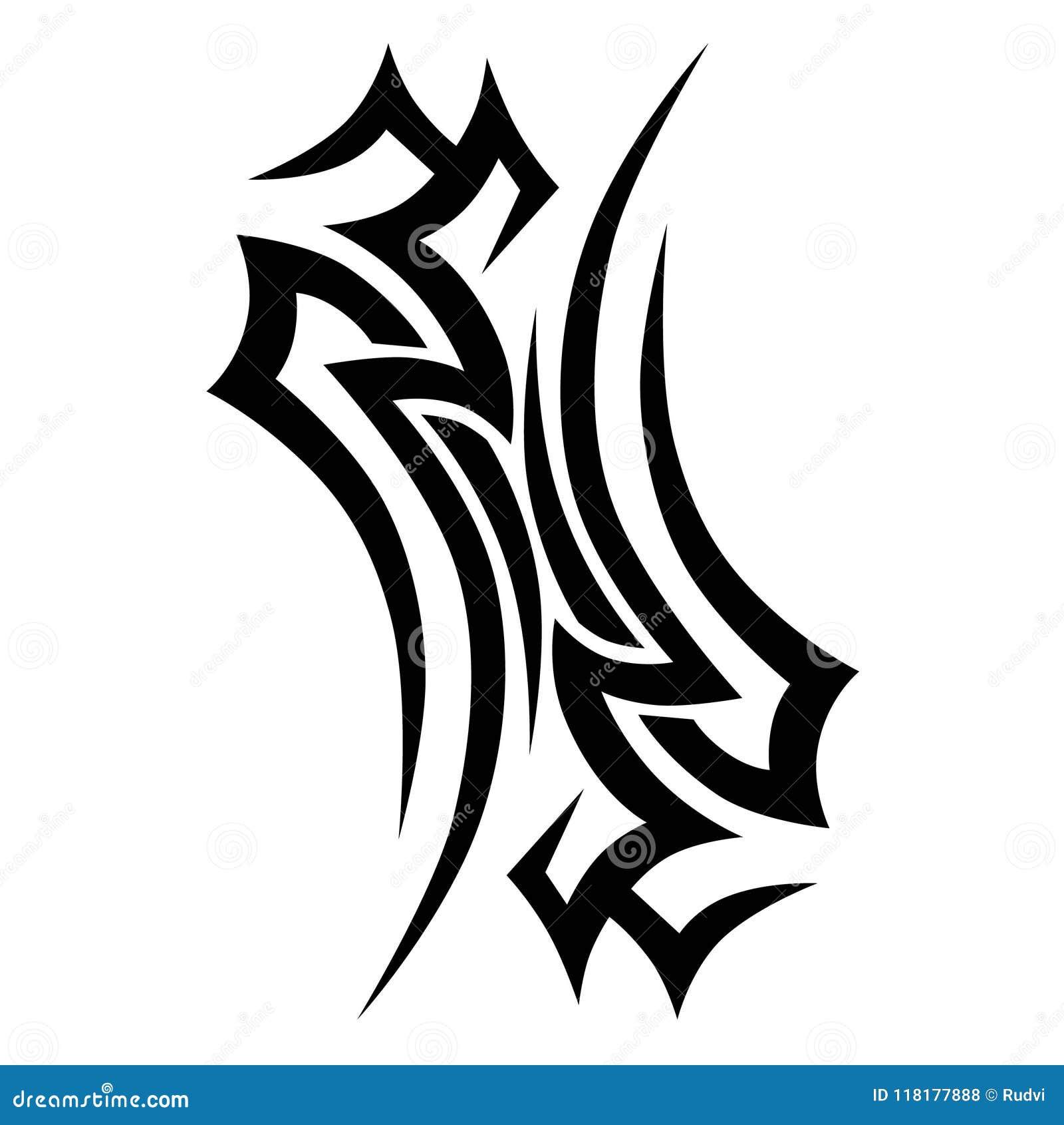 Tribal Tattoo Vector Design Sketch Stock Vector Illustration Of