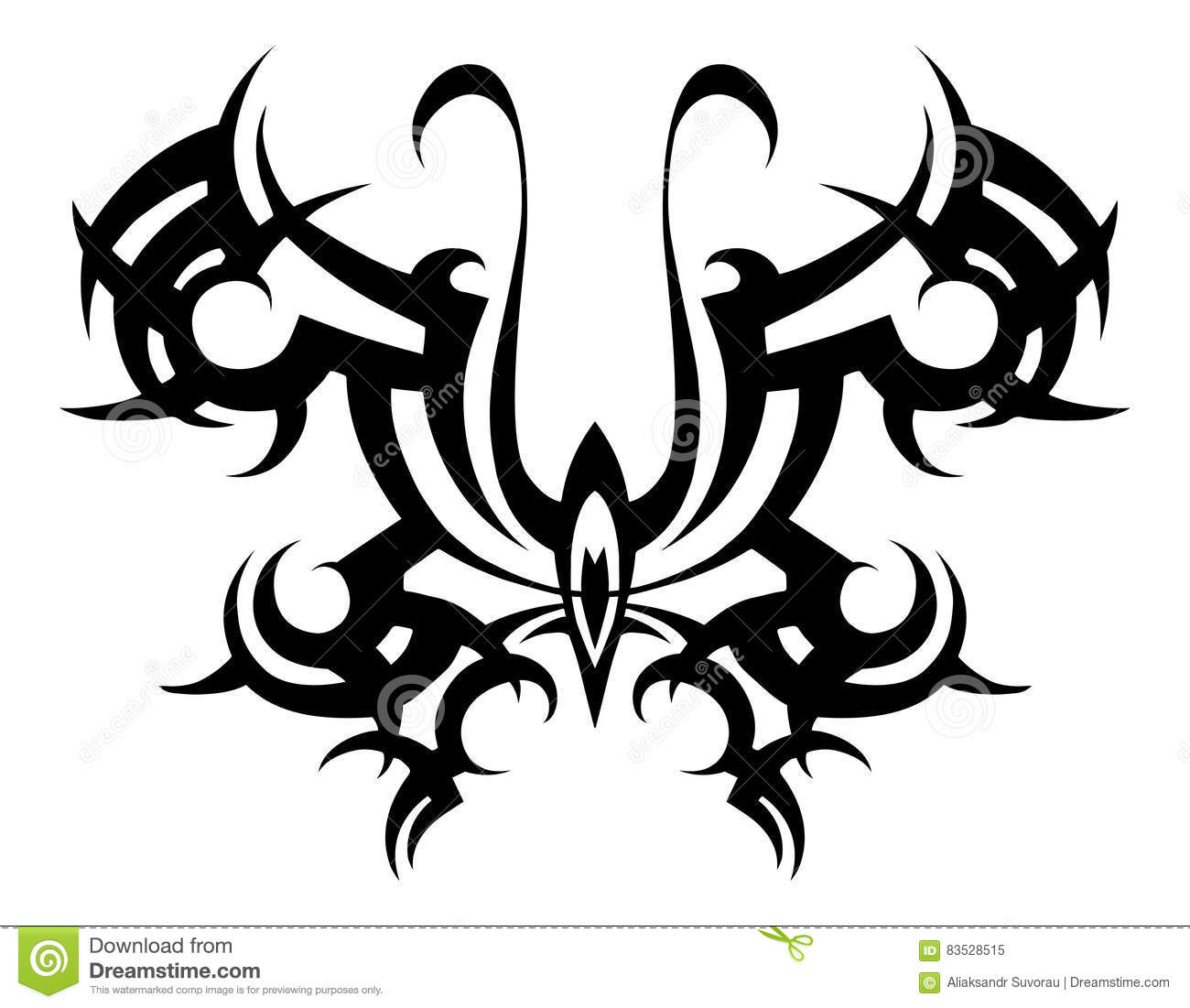 Tribal Tattoo  Vector Tribal  Stencil  Butterfly Abstract