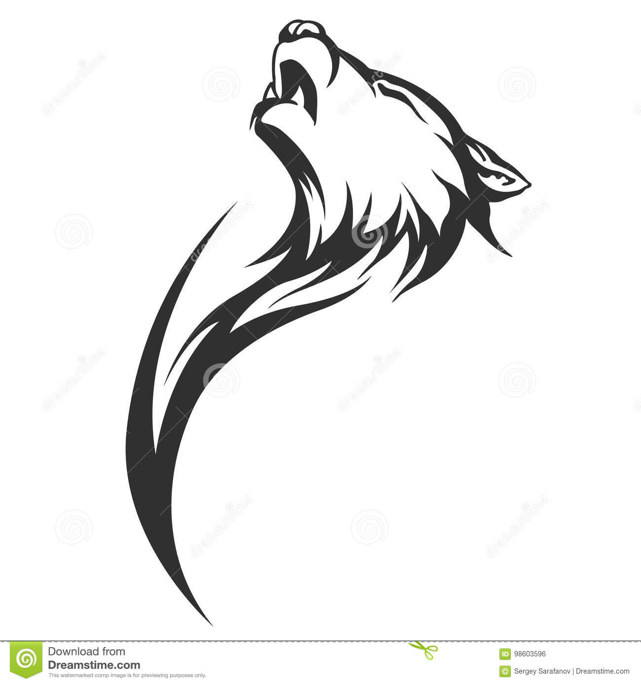 dee0797bb Tribal tattoo wolf designs stock vector. Illustration of mascot ...