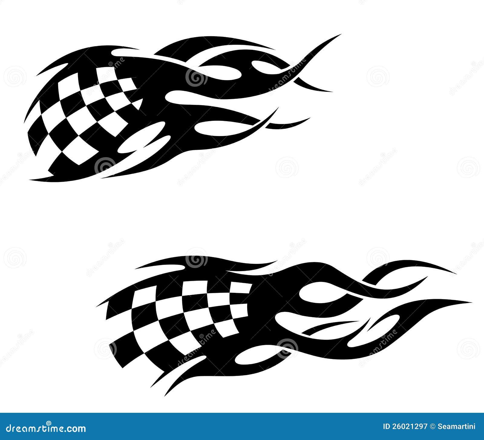 Tribal-Tattoos tribal-tattoos-checkuered-flag-26021297